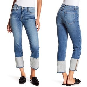 Frame Le High Straight Reverse Cuff Jeans